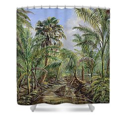 Homestead Tree Farm Shower Curtain by AnnaJo Vahle