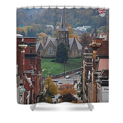 My Hometown Cumberland, Maryland Shower Curtain by Eric Liller