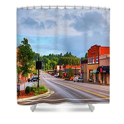 Hometown America Shower Curtain by Dale R Carlson