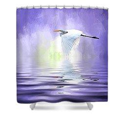 Homeward Bound Shower Curtain by Cyndy Doty