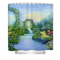 Homeward Journey Shower Curtain by Hannibal Mane