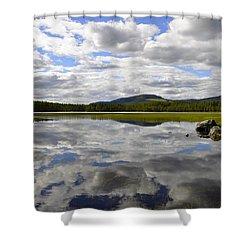 Hon Lake Shower Curtain by Thomas M Pikolin