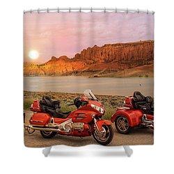 Honda Goldwing Bike Trike And Trailer Shower Curtain