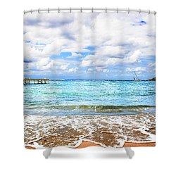 Honduras Beach Shower Curtain by Marlo Horne