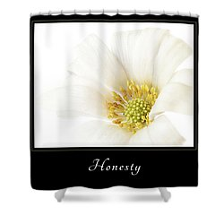 Shower Curtain featuring the photograph Honesty 2 by Mary Jo Allen