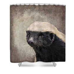 Honey Badger Shower Curtain