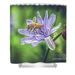 Honey Bee And Flower Shower Curtain