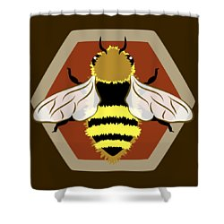 Shower Curtain featuring the digital art Honey Bee Graphic by MM Anderson