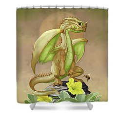 Shower Curtain featuring the digital art Honey Dew Dragon by Stanley Morrison