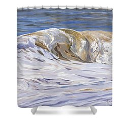 Honey Wave Shower Curtain