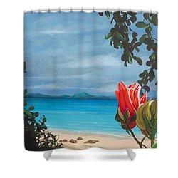 Honeymoon Beach Shower Curtain