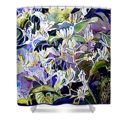 Honeysuckle Fairies Shower Curtain