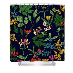 Honeysuckle Floral Shower Curtain
