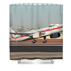Honeywell Boeing 757-225 N757hw Phoenix Sky Harbor January 14, 2016 Shower Curtain by Brian Lockett