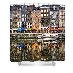 Honfleur France Shower Curtain by Ann Garrett