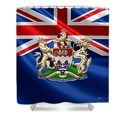 Hong Kong - 1959-1997 Coat Of Arms  Shower Curtain