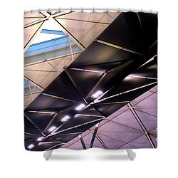 Shower Curtain featuring the photograph Hong Kong Airport by Randall Weidner