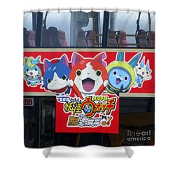 Shower Curtain featuring the photograph Hong Kong Bus by Randall Weidner