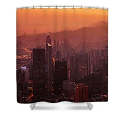 Hong Kong City View From Victoria Peak Shower Curtain