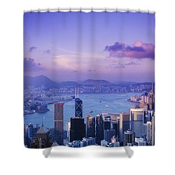 Hong Kong Harbor Shower Curtain by Gloria & Richard Maschmeyer - Printscapes