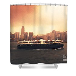 Hong Kong Harbour 01 Shower Curtain by Pixel  Chimp