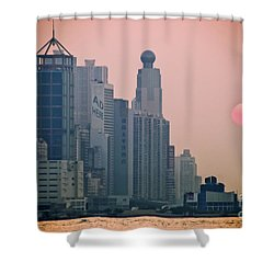 Hong Kong Island Shower Curtain by Ray Laskowitz - Printscapes