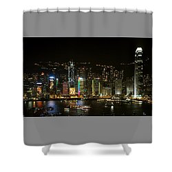 Hong Kong On A December Night Shower Curtain