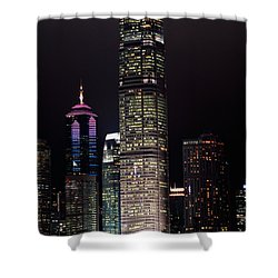 Hong Kong Skyline Shower Curtain by American School