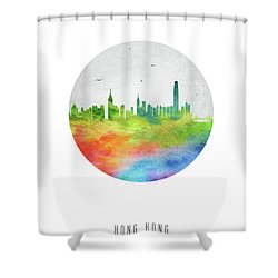Hong Kong Skyline Chhk20 Shower Curtain by Aged Pixel
