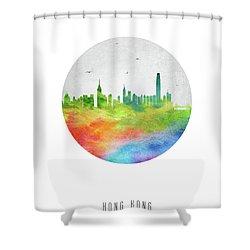 Hong Kong Skyline Chhk20 Shower Curtain