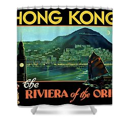 Hong Kong The Riviera Of The Orient - Restored Shower Curtain