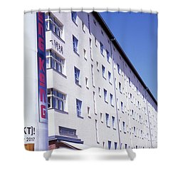 Honk Kong And Building In Berlin Shower Curtain