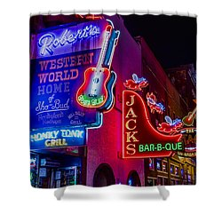 Honky Tonk Broadway Shower Curtain by Stephen Stookey
