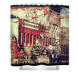 Honky Tonk Row - Nashville Shower Curtain