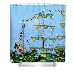 Honolulu Happiness Shower Curtain
