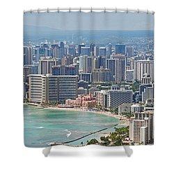 Honolulu Hawaii  Shower Curtain