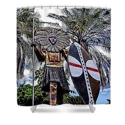 Honolulu Zoo Keeper Shower Curtain