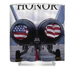 Honor The Flag Shower Curtain