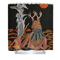 Shower Curtain featuring the painting Honoring by Carolyn Cable