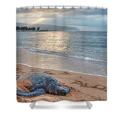 Honu Welcome Shower Curtain