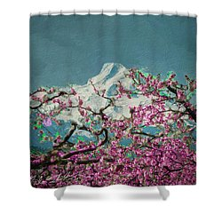 Hood Blossoms Shower Curtain by Dale Stillman