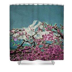 Hood Blossoms Shower Curtain
