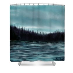 Hood Canal Puget Sound Shower Curtain