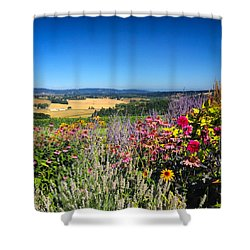 Hood River Valley Flowers Shower Curtain