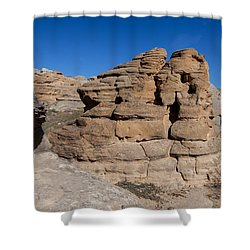 Shower Curtain featuring the photograph Hoodoo Stack by Fran Riley