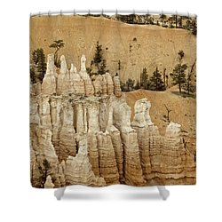 Hoodoos II Shower Curtain by Anne Rodkin