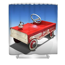 Shower Curtain featuring the photograph Hook And Ladder Peddle Car by Mike McGlothlen