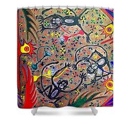Hookah Monkeys - Jinga Monkeys Series Shower Curtain
