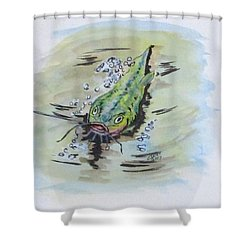 Hooked Catfish Shower Curtain