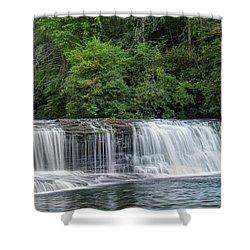 Hooker Falls Shower Curtain by Steven Richardson